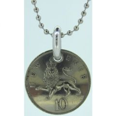 10 New Pence Coin Pendant