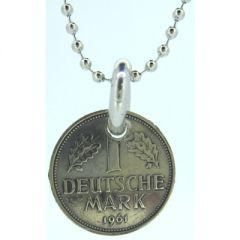 One Deutsche Mark Coin Pendant