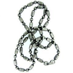3.2mm Silver Oxide Ball and Bar Chain