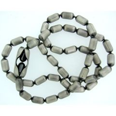 4.5mm Silver Oxide Bar Chain
