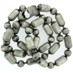 6.4mm Silver Oxide Ball and Bar Chain