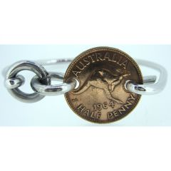 Half Penny Coin Bangle - closed