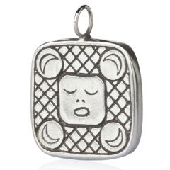 Mayan Shield Pendant - perspective view