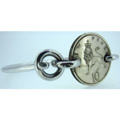 New Pence Lion Coin Bangle
