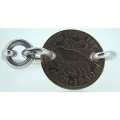 New Zealand One Penny Coin Bangle