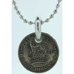 One Shilling Coin Pendant