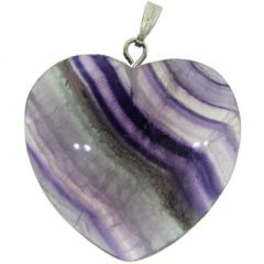 Purple Quartz Heart Pendant
