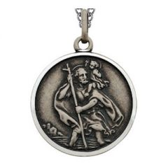St Christopher prayer medallion pendant