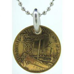 British Empire Exhibition Coin Pendant