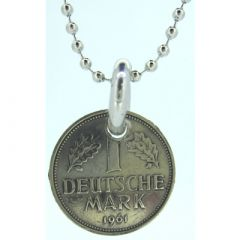 One Deutsche Mark Coin Pendant