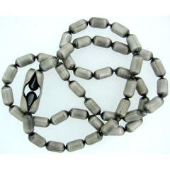 4.5mm Silver Oxide Bar Chain