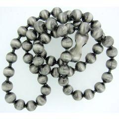 6.4mm Silver Oxide Ball Chain