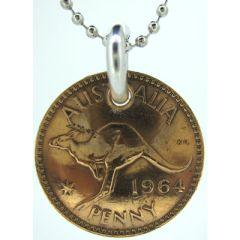 Australian Penny Coin Pendant