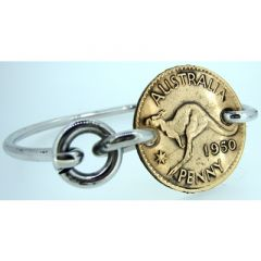 Australian Penny Coin Bangle