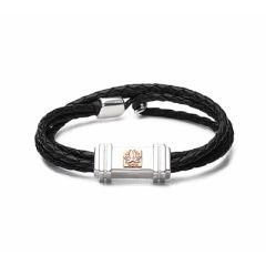 Sterling silver, 9carat gold Waratahs Bracelet Charm - front