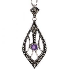 Marcasite and Amethyst decorative pendant