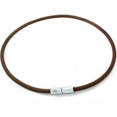 Custom length dark brown solid leather necklace