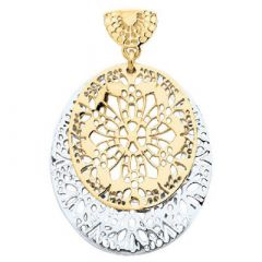 Filigree oval pendant