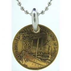 British Empire Exhibition Coin Pendant