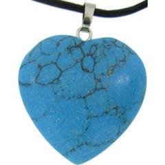 Turquoise Stone Heart Pendant