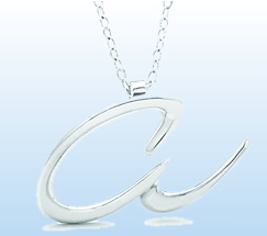 Sterling Silver Letter Pendants