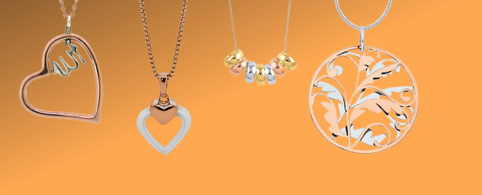 Gold and Rose Gold Pendants
